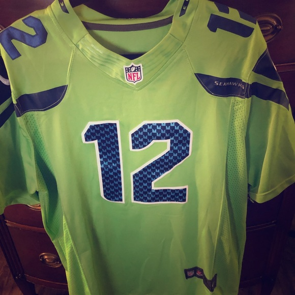 new lime green seahawks jersey